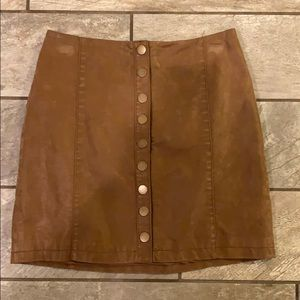 Free People size 2 sueded skirt
